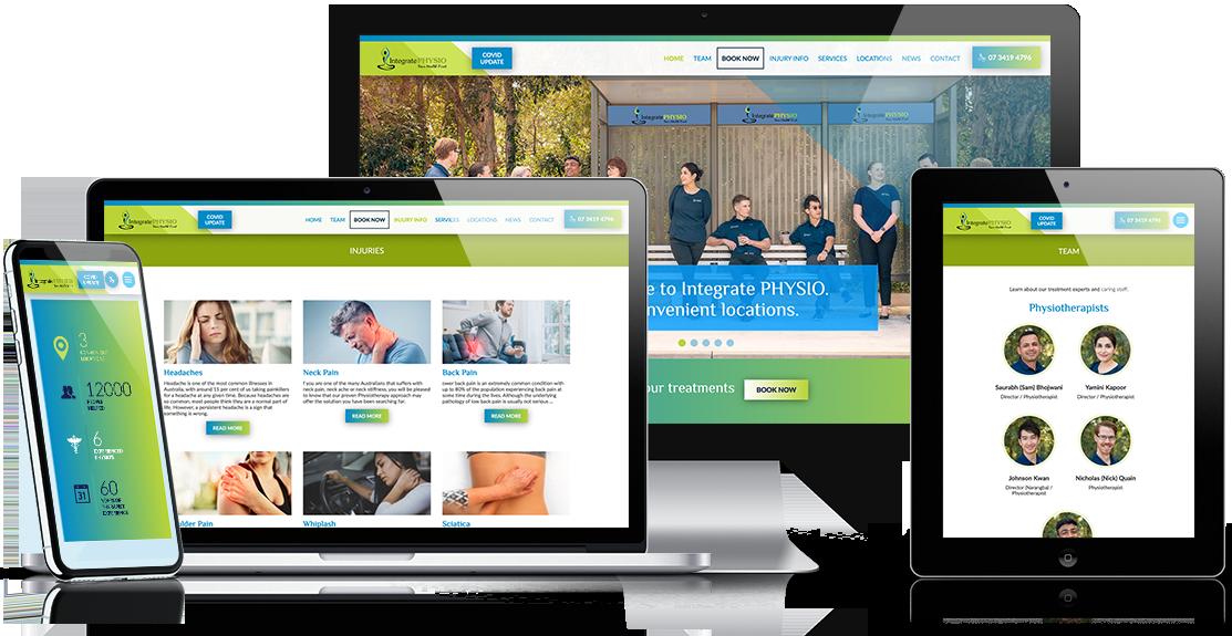 IntegratePHYSIO Website by Zephyrmedia